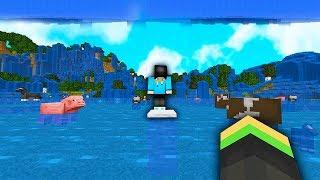 minecraft, ale voda stoupá každou sekundu