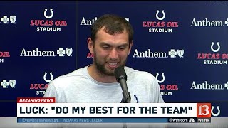 Colts quarterback Andrew Luck announces surprise retirement during preseason game