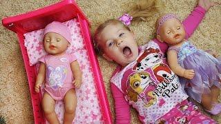 ВСЕМ СПАТЬ! Куклы Беби Бон в Кроватке ДИАНА КАК МАМА Кукла Baby Born Видео для Детей Игры Девочек