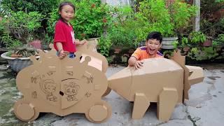 Trò Chơi Làm Công Chúa ❤ ChiChi ToysReview TV ❤ Đồ Chơi Trẻ Em Bé Đi Xe Giấy