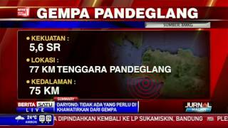 BMKG Gempa Yang Berpusat Di Pandeglang Tidak Berpotensi Tsunami