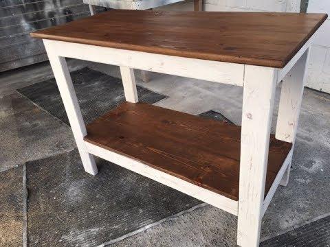 Diy 20 rustic wood kitchen island project fast and easy for All wood kitchen island