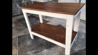 DIY $20 Rustic Kitchen Island Project. Fast And Easy! Great Project For All Skill Levels.