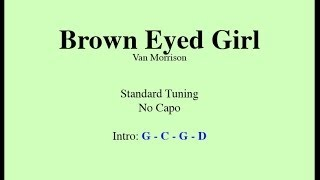 Brown Eyed Girl - Easy Guitar (Chords and Lyrics)