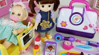 Doctor Baby doll bag and Ambulance car Hospital toys play - ToyMong TV 토이몽