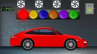 Учим цвета с машинками. Развивающий Мультфильм для детей