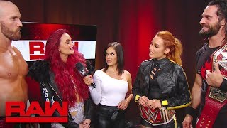 Maria & Mike Kanellis interrupt Seth Rollins & Becky Lynch: Raw, July 1, 2019