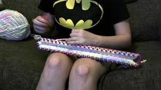 LOOMING A BABY BLANKET TIME LAPSE