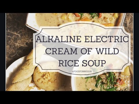 Cream of Wild Rice Soup Alkaline Electric Dr Sebi Approved