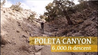Riding down Poleta Canyon