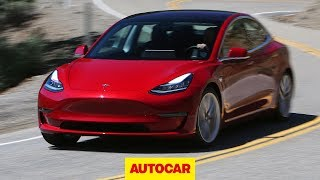 2018 Tesla Model 3 Review - Enough to beat a BMW or Mercedes? | Autocar - Video Youtube