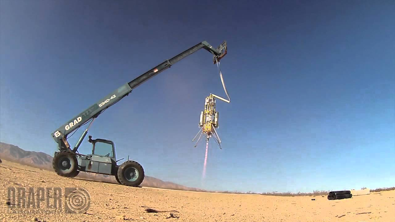 Strapping A Space Engine To A Crane Looks Fun