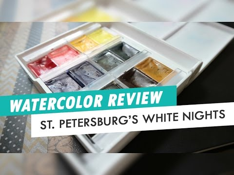 St. Petersburg's White Nights Watercolor | REVIEW + DEMO