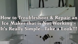 Refrigerator icemaker shut off arm part wp67004028 how to troubleshooting ice maker repair sears kenmore whirlpool kitchenaid refrigerator not working fandeluxe Image collections