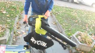 Воздуходувка-пылесос Ryobi RBV 3000 CESV видео