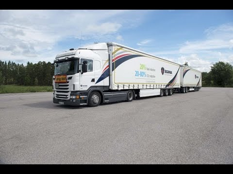 Video bij: Dutch test with Super EcoCombi with double trailers