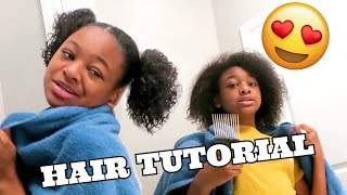 I DID MY HAIR TODAY (TWO BUNS HAIR TUTORIAL)
