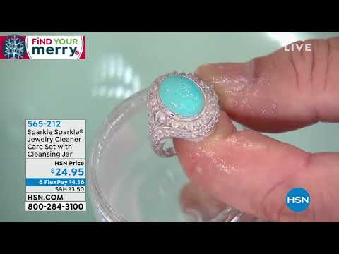 Sparkle Sparkle Jewelry Cleaner Care Set with Jar