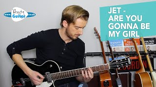 JET Are You Gonna Be My Girl Guitar Lesson Tutorial   EASY Rock Songs