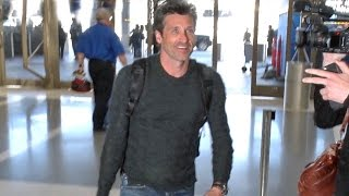Patrick Dempsey Looking Handsome At LAX