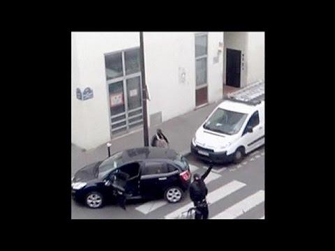 New amateur footage of Charlie Hebdo terrorist attack