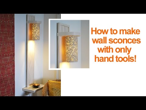 How to make a wall lamp with a shelf