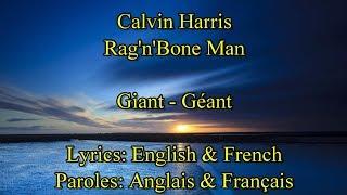 """Rag'n' Bone Man Calvin Harris """"Giant""""   Paroles De La Chanson En Anglais & Français"""