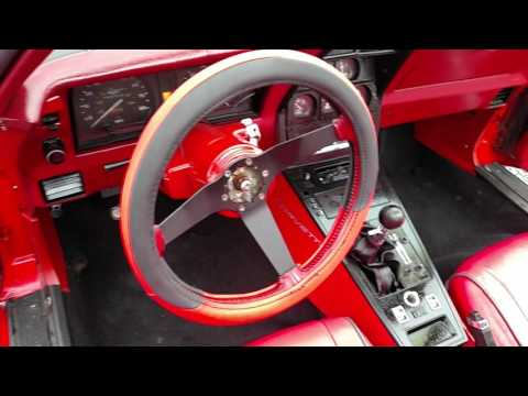 1981 Charcoal Corvette Red Int Hot Rod For Sale Video