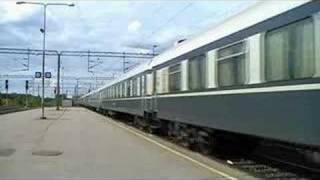 Express Train 707 departing Pieksämäki station