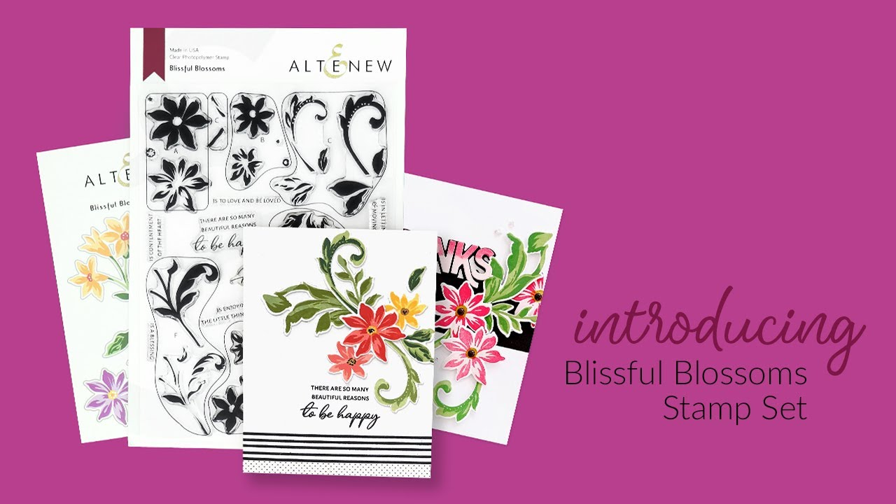 Altenew Blissful Blossoms -leimasinsetti
