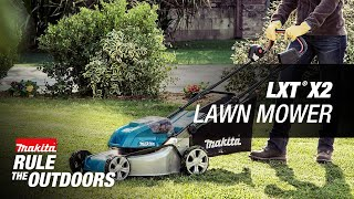 "Makita 18V X2 (36V) LXT® Lithium-Ion Brushless Cordless 18"" Lawn Mower Kit with 4 Batteries (5.0Ah) - Thumbnail"