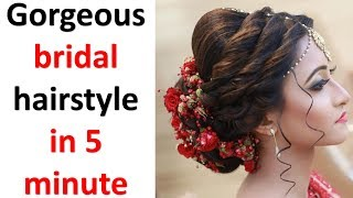 Gorgeous Bridal Hairstyle In 5 Minute || Juda Hairstyle || Simple Hairstyle || Hairstyles For Girls