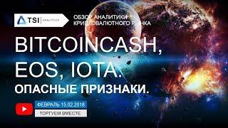 BitcoinCash, EOS и IOTA — опасные признаки | Прогноз цены на Криптовалюты