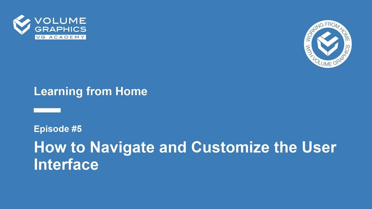 Learning from Home - Episode5: How to Navigate and Customize the User Interface