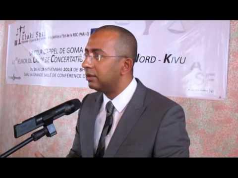 Premiere réunion de concertation Justice au Nord Kivu, Projet Uhaki safi/Union européenne RDC