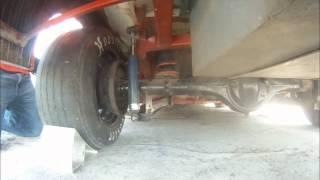 Nott's Racing- Left rear shock, axle, brakes