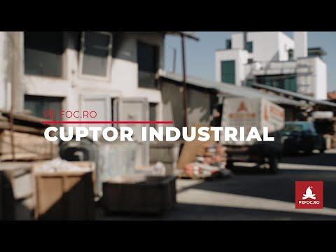 Cuptor industrial 500kw refacut cu materiale refractare 1300 C