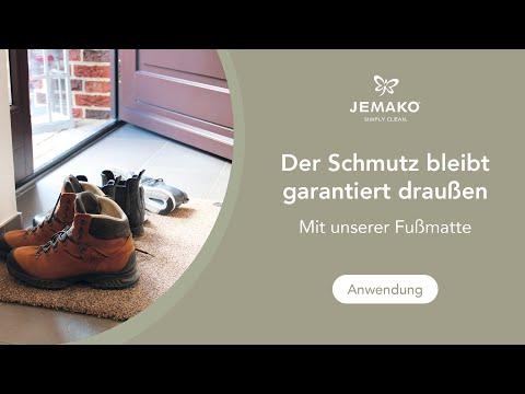 Die neue JEMAKO Fußmatte im Härtetest. Optimal gegen Nässe und Schmutz!