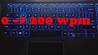 Everything you need to know to get from 0 to 200 WPM!