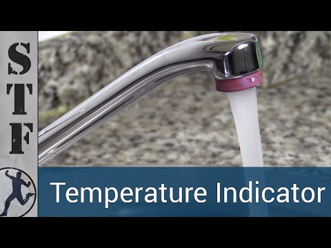 Make A Temperature Indicator For Your Tap With Thermochromatic Pigment
