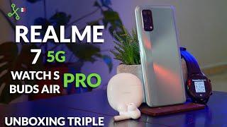 Realme 7 5G, Watch S Pro y Buds Air Pro | Unboxing | Precio oficial en México