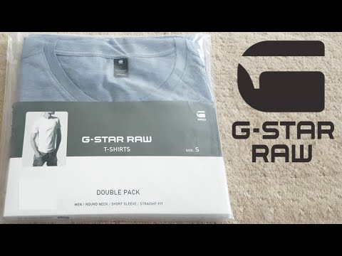 G-STAR RAW T-Shirts 2 packs review unboxing 4K UHD