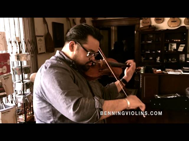 Violinist Vijay Gupta plays a Bergonzi-Model Violin Crafted by Violinmaker Eric Benning
