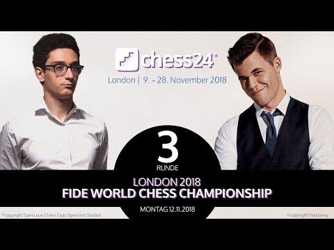 3. Partie - FIDE Schachweltmeisterschaft 2018 - Caruana-Carlsen