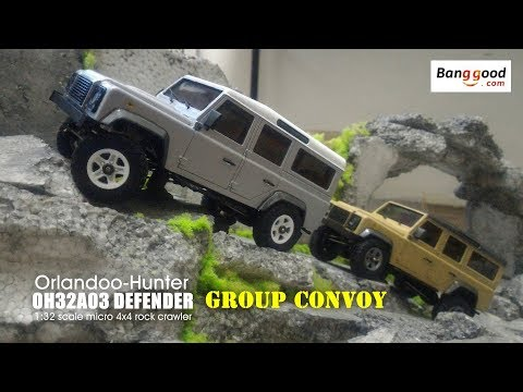 Group Convoy - Orlandoo Hunter 1:32 scale OH32A03 Land Rover Defender