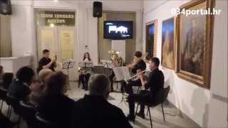 preview picture of video '034TV: Koncert Brass quinteta Glazbene škole Požega u Gradskom muzeju'