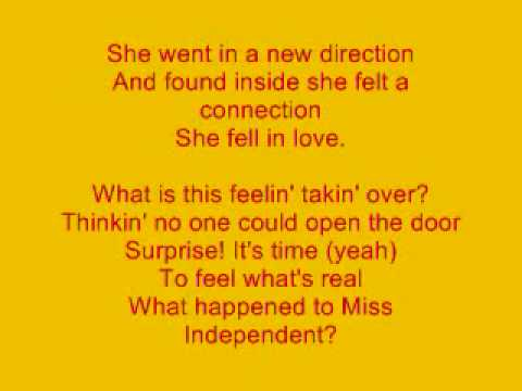 Miss Independent Lyrics By Kelly Clarkson