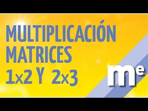 Multiplicacion de matrices 1x2 y 2x3