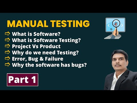 Manual Software Testing Training Part-1 | FREE YouTube Live ...