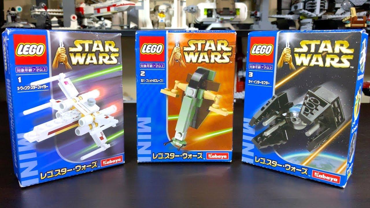 RARE LEGO Star Wars KABAYA Sets!   X-Wing, Slave 1, & Tie Interceptor